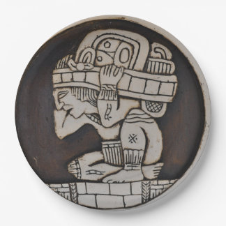 Ancient Mayan Warrior 9 Inch Paper Plate