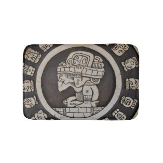 Ancient Mayan Warrior Bathroom Mat