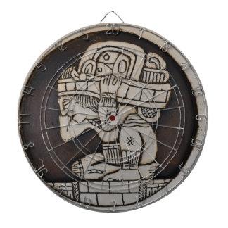 Ancient Mayan Warrior Dartboard With Darts