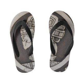 Ancient Mayan Warrior Kid's Flip Flops