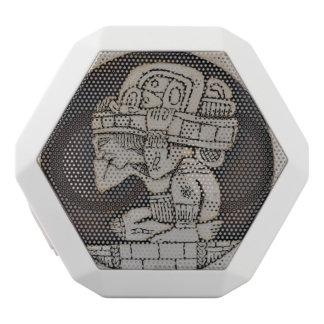 Ancient Mayan Warrior White Bluetooth Speaker