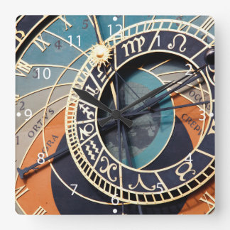 Ancient Medieval Astrological Clock Czech