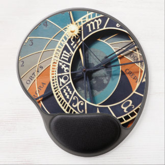 Ancient Medieval Astrological Clock Czech Gel Mouse Pad