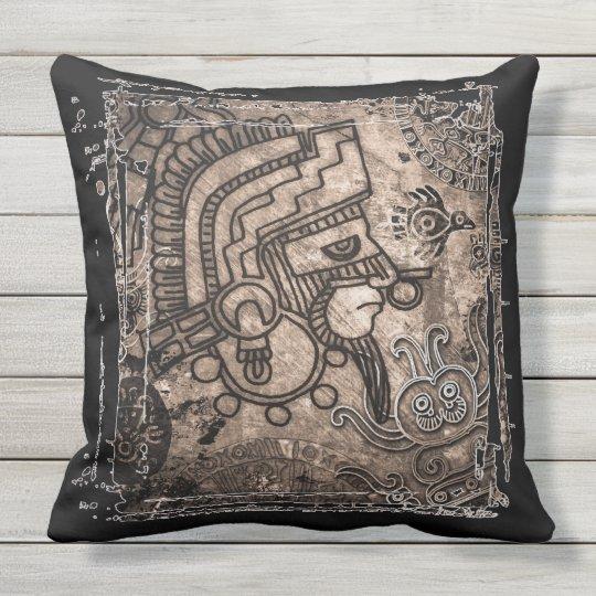 """Ancient Mexico Outdoor Throw Pillow 20"""" x 20"""""""