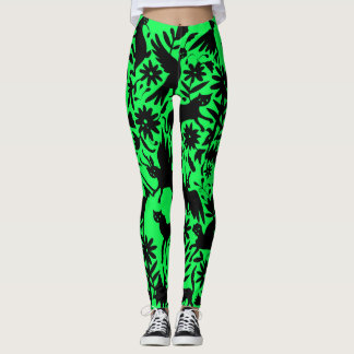 Ancient Mythical Creature Electric Green Leggings