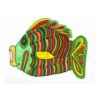 Ancient Nile Bulti Fish Postcard