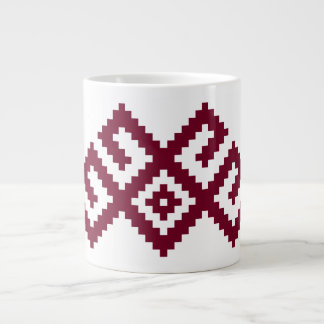 Ancient Nordic Latvian, Lithuanian Symbol Large Coffee Mug