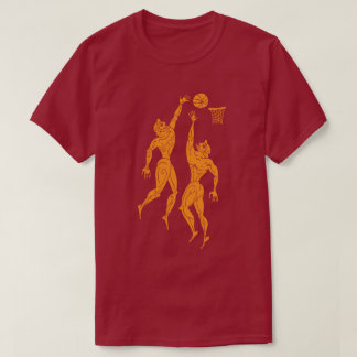 Ancient Olympians Playing Basketball Funny Dark T-Shirt