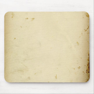 Ancient Parchment Stained Yellowed Vintage Blank Mouse Pad