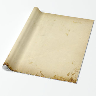 Ancient Parchment Stained Yellowed Vintage Blank Wrapping Paper