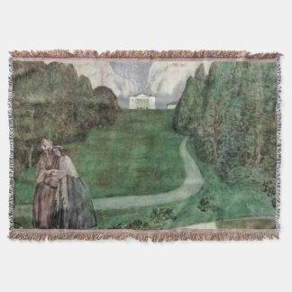 Ancient park Throw Blanket