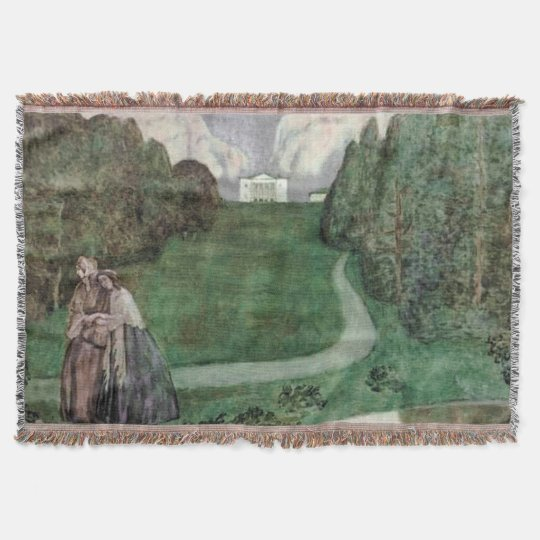 Ancient park Throw Blanket