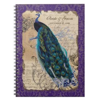 Ancient Peacock Formal Wedding Planner Journal