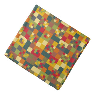 Ancient Pixel Color Pattern Bandana