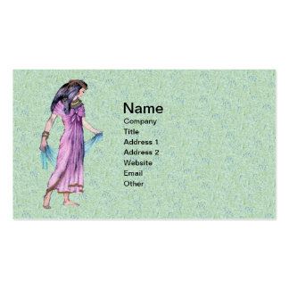 Ancient Pretty Egyptian Lady Princess in Purple Double-Sided Standard Business Cards (Pack Of 100)