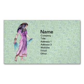 Ancient Pretty Egyptian Lady Princess in Purple Business Card Magnet