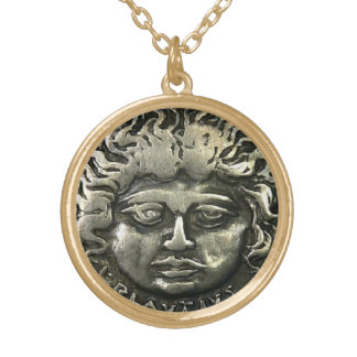 ANCIENT ROMAN COIN GOLD PLATED NECKLACE