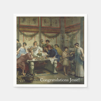 Ancient Roman Dinner Party Feast Paper Napkin