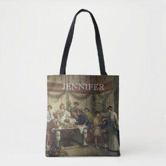 Ancient Roman Dinner Party Feast with your Name Tote Bag