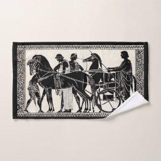 ancient Roman men and horses Bath Towel Set
