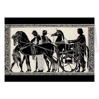 ancient Roman men and horses Card