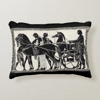 ancient Roman men and horses print Decorative Pillow