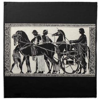 ancient Roman men and horses print Napkin