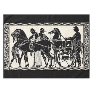 ancient Roman men and horses print Tablecloth
