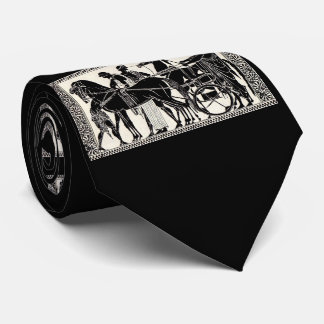 ancient Roman men and horses print Tie