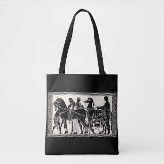 ancient Roman men and horses print Tote Bag