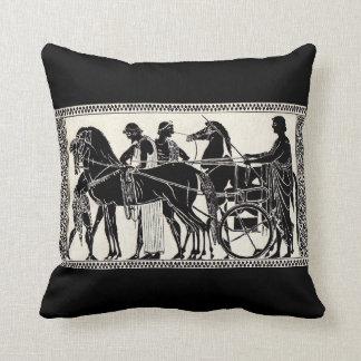 ancient Roman men and horses Throw Pillow