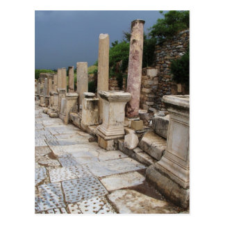 Ancient Roman road in the city of Ephesus, Turkey Postcard