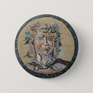 Ancient Roman Satyr Mosaic 2 Inch Round Button