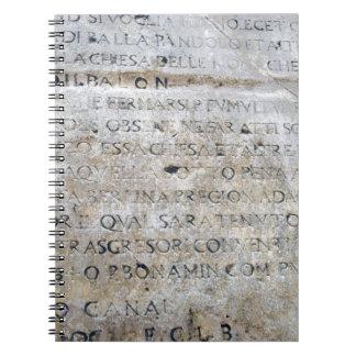 Ancient Roman Sign Spiral Notebook
