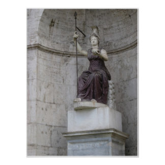Ancient Roman Statue in Italy Poster