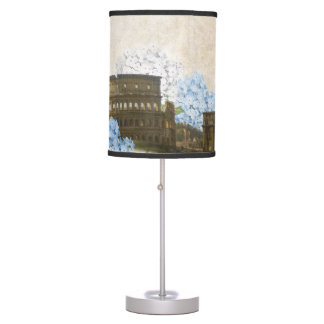 Ancient Rome Blue Hydrangea Table Lamp