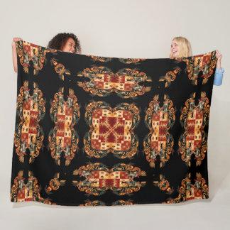 Ancient Royal Knight Crest Quilt Fleece Blanket