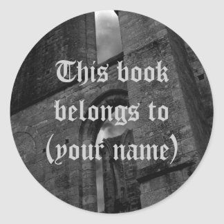 Ancient ruins book plate stickers for your name