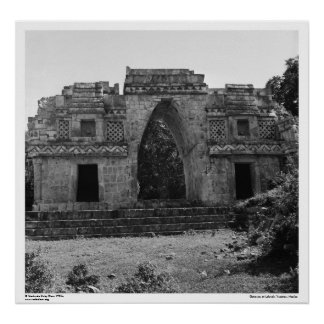 Ancient Ruins: Gateway to Labna, Yucatan, Mexico Poster