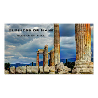 Ancient Ruins in Athens Greece Pack Of Standard Business Cards