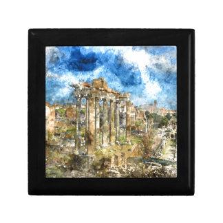 Ancient Ruins in Rome Italy Keepsake Box