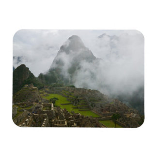 Ancient ruins of Machu Picchu with Andes Rectangular Photo Magnet