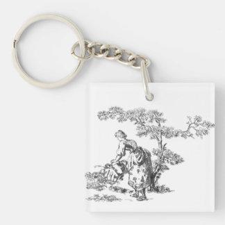 Ancient rural artwork keychain