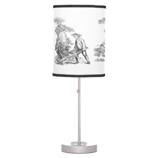 Ancient rural artwork table lamp