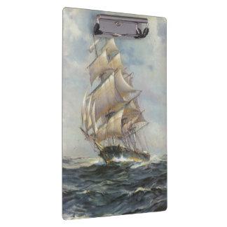 Ancient Sailing Ship Clipboard