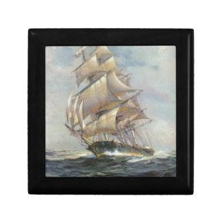 Ancient Sailing Ship Gift Box