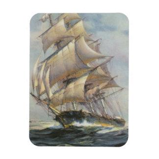 Ancient Sailing Ship Rectangular Photo Magnet