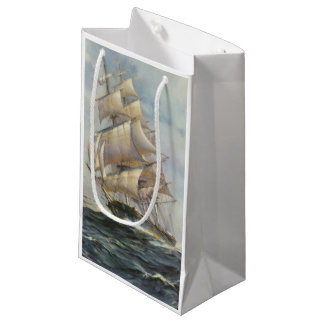 Ancient Sailing Ship Small Gift Bag