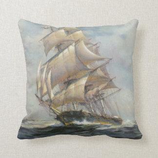 Ancient Sailing Ship Throw Pillow