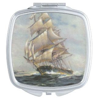 Ancient Sailing Ship Travel Mirror